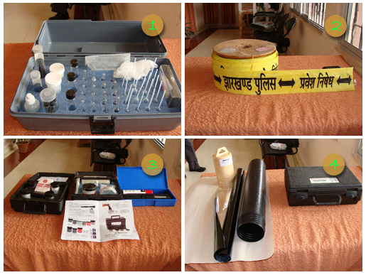 1. Explosive Kit, 2. Cordoning Tape, 3. Casting Kit, 4. Path Finder